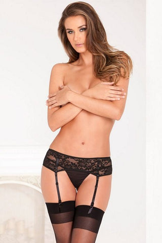 LACE GARTER BELT BLACK S/M