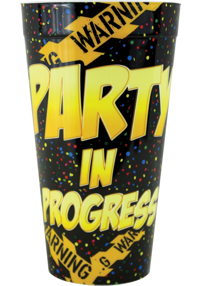 PARTY IN PROGRESS PLASTIC CUP