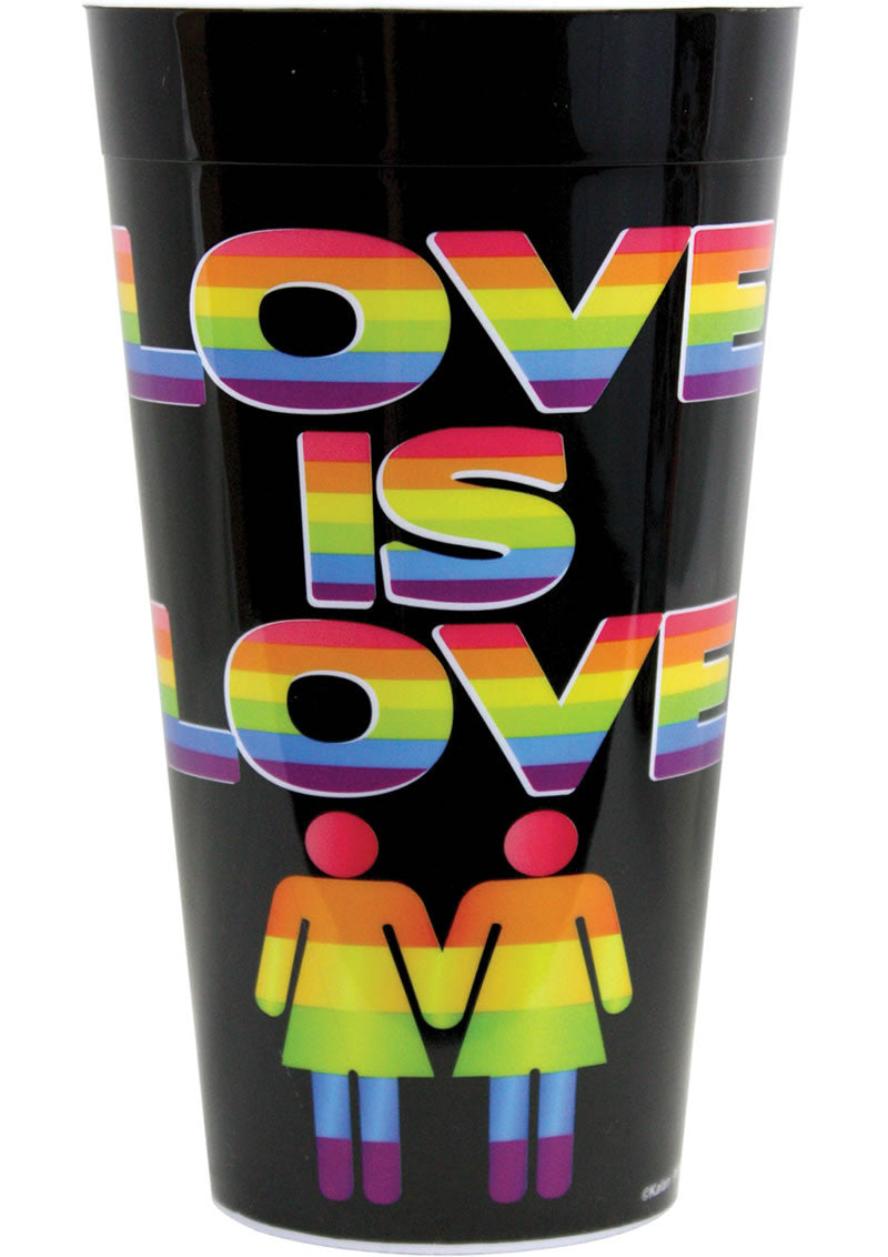 LOVE IS LOVE PLASTIC CUP