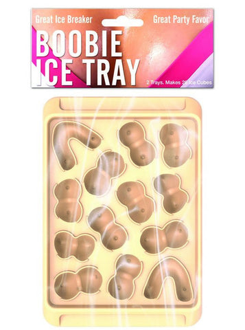 Boobie Ice Cube Tray Asst Boobie Shapes (2 pk)
