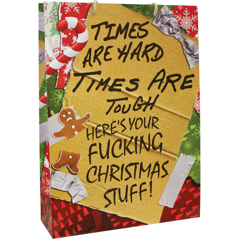 Times Are Hard Christmas Large Gift Bag