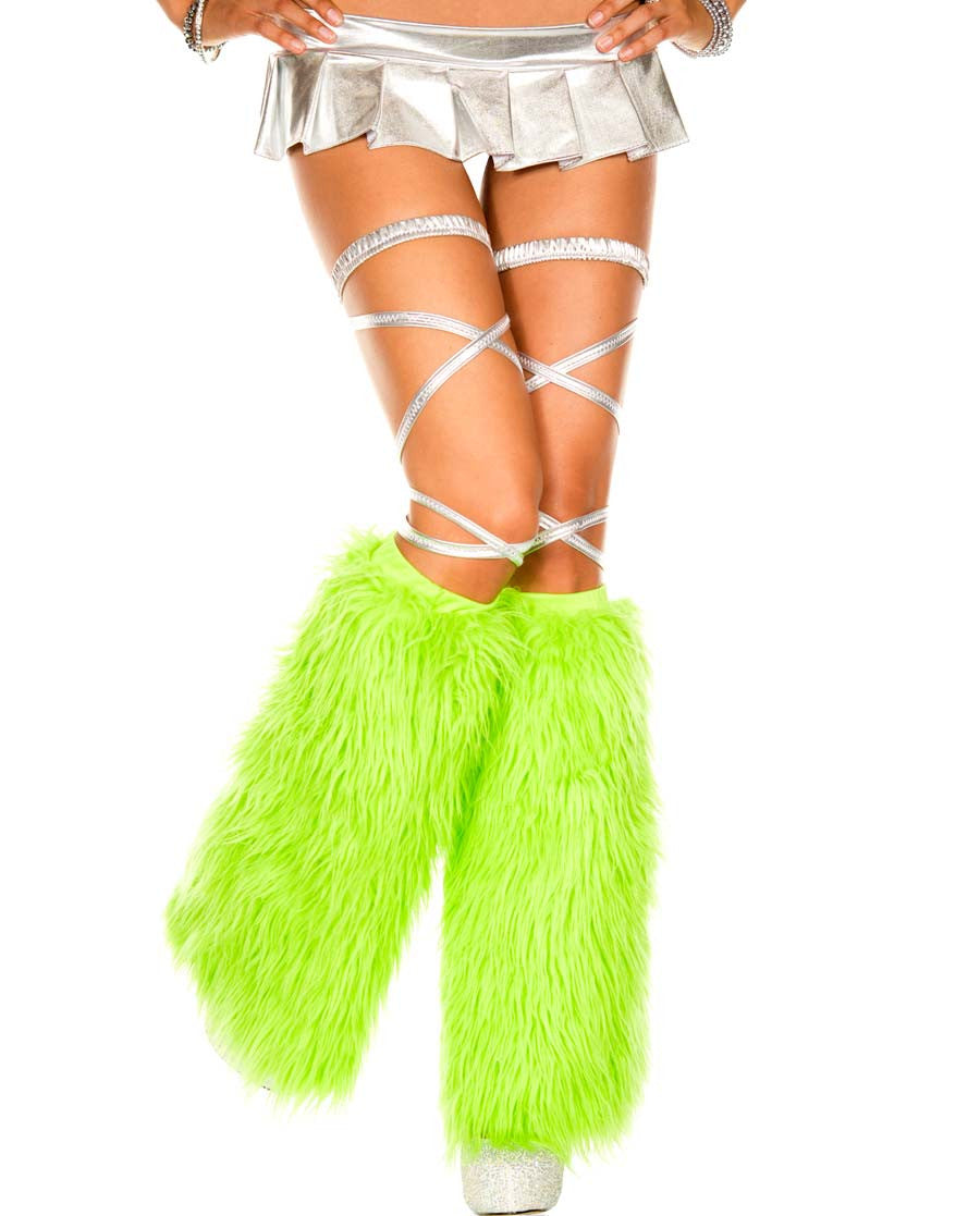Rave Yeti Boot or Leg Warmer (Neon Green)
