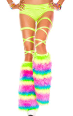 Rave Yeti Boot or Leg Warmer (Rainbow)