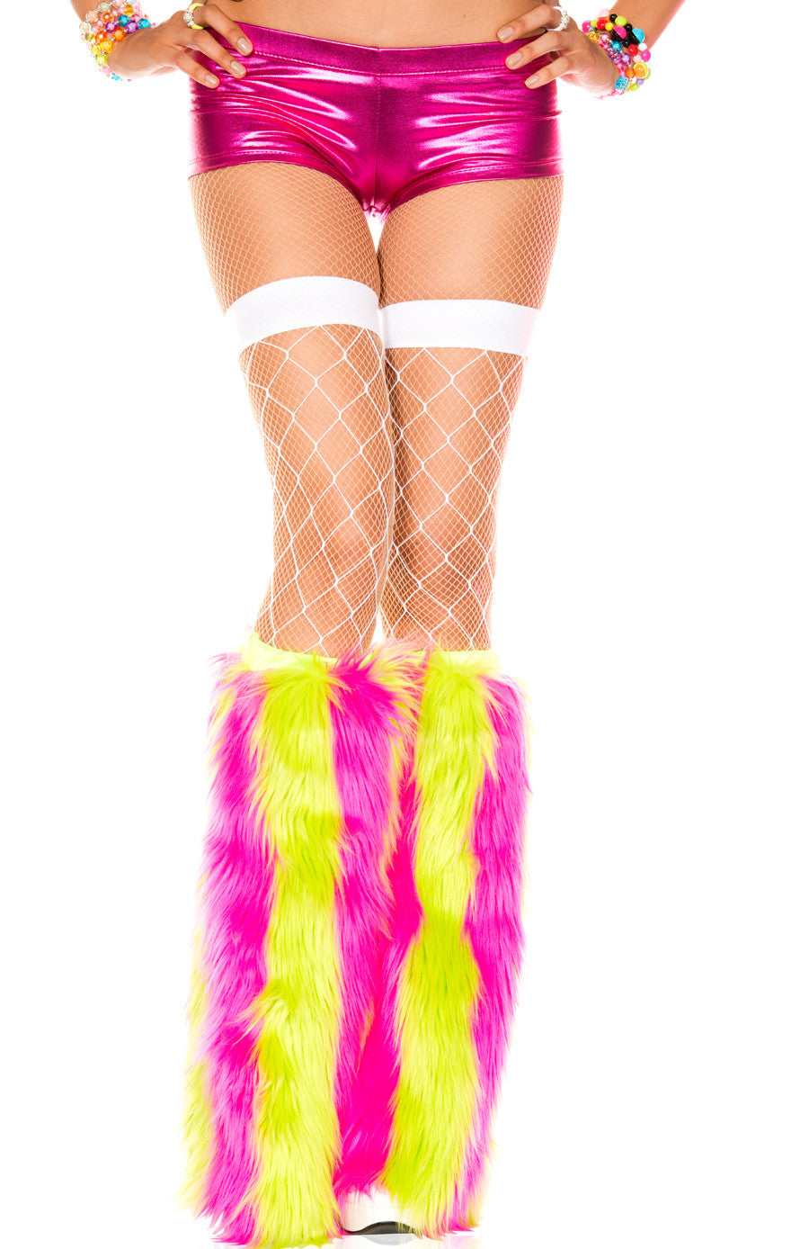 Rave Yeti Boot or Leg Warmer (Rainbow stripes Vertical)