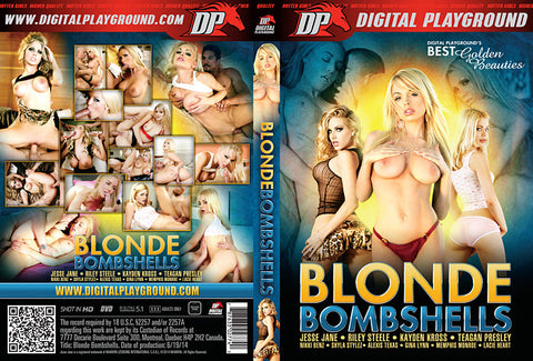 Blonde Bombshells (Jesse Jane,  Riley Steele,  Kayden Kross,