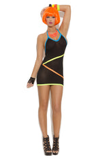 VIVACE MINI DRESS W/NEON STRIPE