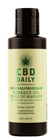CBD DAILY MASSAGE OIL 4 OZ