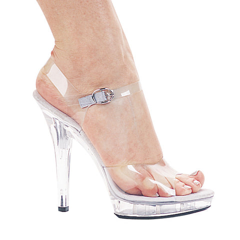 "Brook 5"" Heel Clear Sandal."