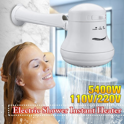 Tankless Instant Hot Water Heater Electric Shower Head Hose Bracket - GrabGoPay