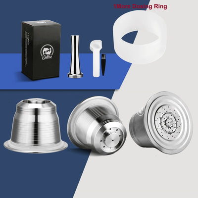 iCafilas For Nespresso Refillable Coffee Capsule Pod Stainless Steel Espresso Coffee filters and Tamper Wholesale - GrabGoPay