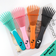(Bundle of 2) Award Winning Detangling Brush - The Detangling Brush