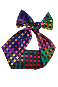 NEWTON CHECK HEADSCARF/CRAVAT