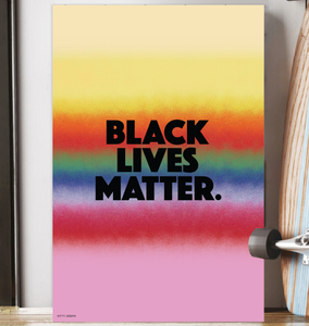 BLACK LIVES MATTER WALL PRINT 16x24""