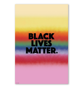 BLACK LIVES MATTER WALL PRINT 24x36""
