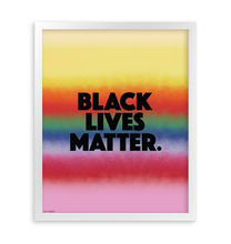 Load image into Gallery viewer, BLACK LIVES MATTER FRAMED PRINT 16x20""