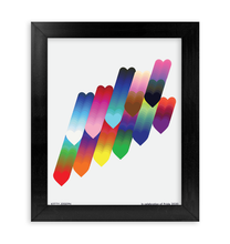 Load image into Gallery viewer, PRIDE FRAMED PRINT 8x10""