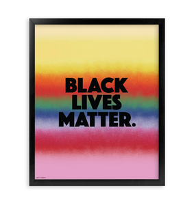 BLACK LIVES MATTER FRAMED PRINT 16x20""