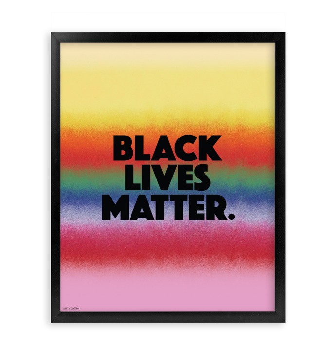 BLACK LIVES MATTER FRAMED PRINT 16x20