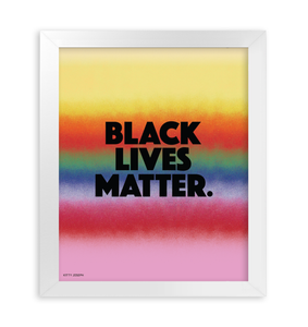 BLACK LIVES MATTER FRAMED PRINT 11x14""