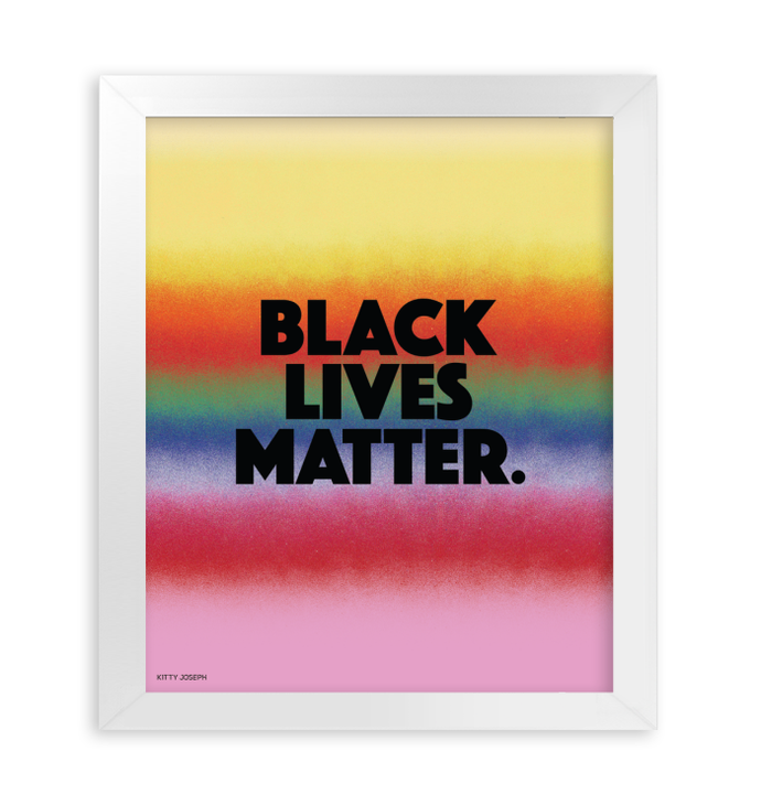 BLACK LIVES MATTER FRAMED PRINT 11x14