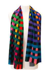 NEWTON CHECK LONG SCARF