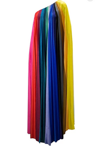 PRISM VELVET FLOOR LENGTH GOWN
