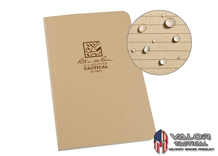 Rite In The Rain - [ Universal ] 4.5 x7.5 Tactical Field Book with Field Flex Cover [ Tan ]
