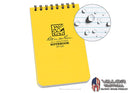 Rite In The Rain - [ Universal ] 3x5 Top Spiral with Polydura Cover Notebook [ Yellow ]