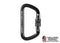 Fusion - TAZO III Screw Gate Aluminum Carabiner [ Black ]