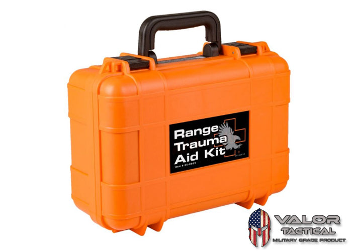 North American Rescue - Range Trauma Aid Kit - Hard Case [ Orange ]