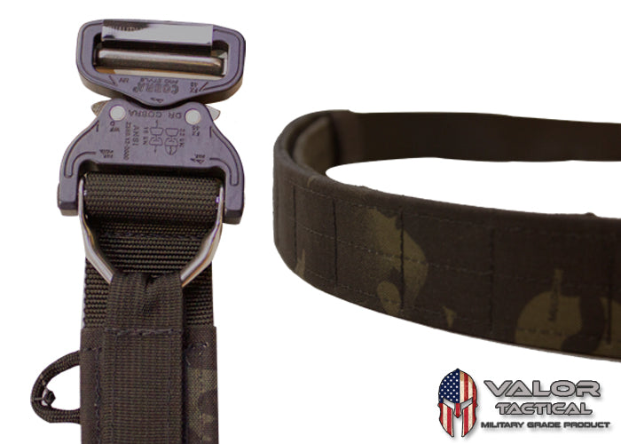 "G-Code - Contract Series Operator's Belt 1.75"" Cobra Buckle/D-Ring With Velcro and Pad Inner Belt [Multicam Black/Black]"