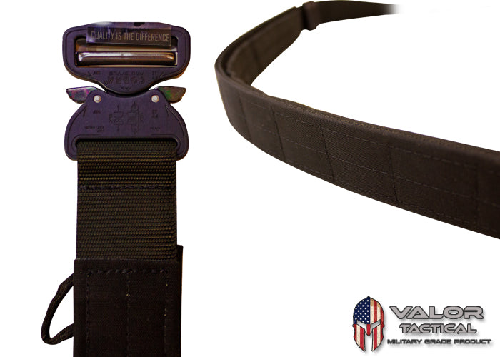 "G-Code - Contract Series Operator's Belt 1.75"" Standard Cobra With Velcro and Pad Inner Belt [Black/Black]"