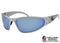 Gatorz Wraptor Brushed Frame / Smoked Polarized with Blue Mirror lens