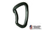 Fusion - Vapor III Military Tactical Matte Edition Aluminum Bent Gate Key Nose Modified D Carabiner Black