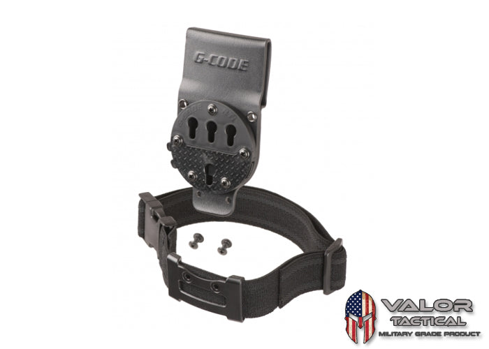G-Code - GCA200 RTI Optimal Drop Pistol Platform leg strap + RTI Wheel [ Black ]