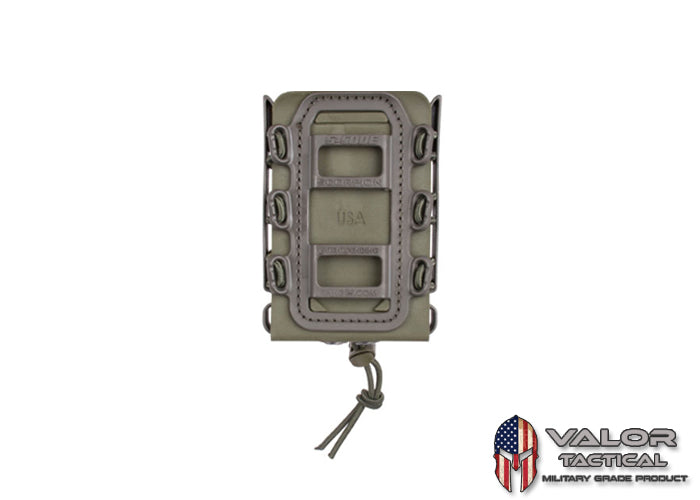 G-Code - GCA39 Soft Shell Scorpion Rifle Mag Carrier + GCA47 Molle Clip [ Green/Green ]