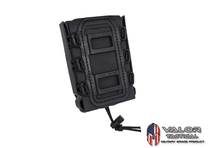 G-Code - GCA39 Soft Shell Scorpion Rifle Mag Carrier + GCA92 Belt Loop [ Black/Black ]