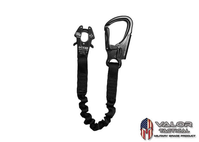 "Fusion - PERSONAL RETENTION LANYARD W/KONG FROG QUICK DISCONNECT [ Black / 48""]"