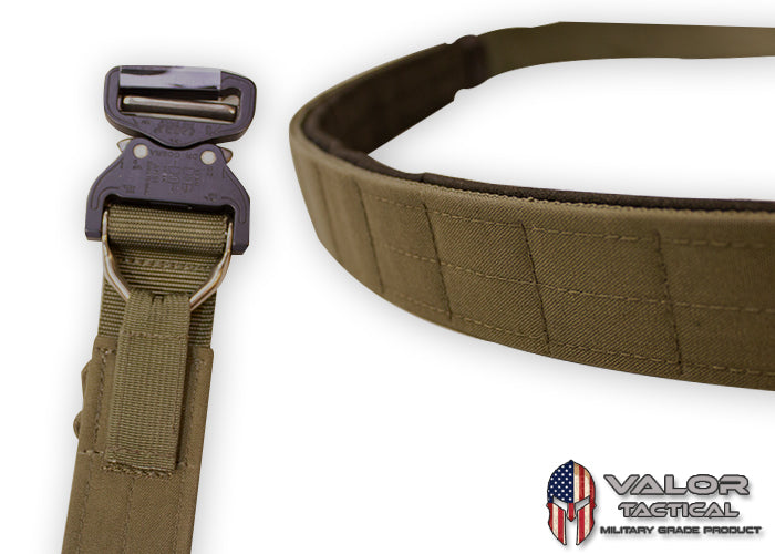 "G-Code - Contract Series Operator's Belt 1.75"" Cobra Buckle/D-Ring With Velcro and Pad Inner Belt [OD Green/OD Green]"