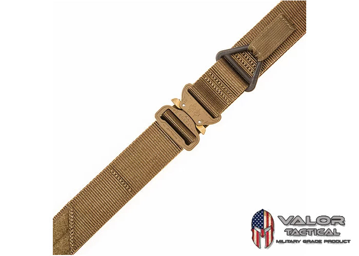 Tac Shield - Military Riggers Belt with Cobra Buckle [ Coyote ]