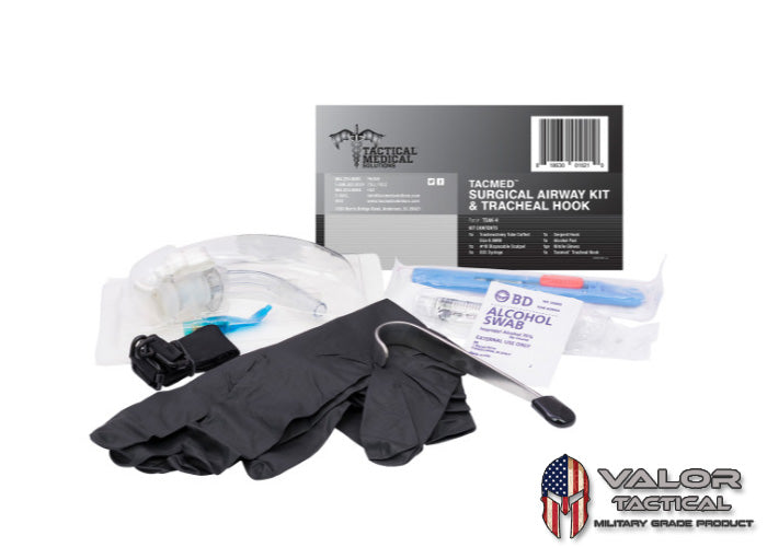 Tactical Medical Solution - Surgical Airway Kit With Tracheal Hook