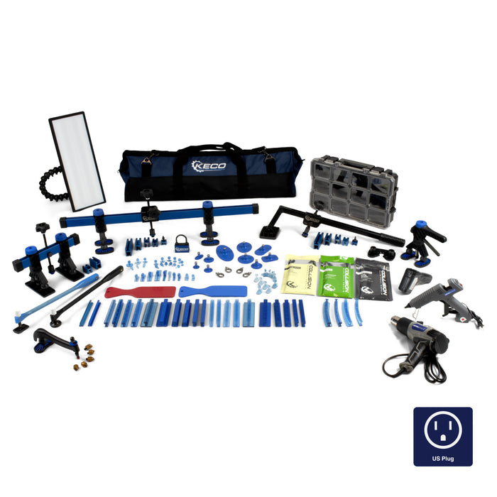 Keco Level 2 Glue Pull Collision Manager Kit with Portable Shop Light and Bag - 110 V