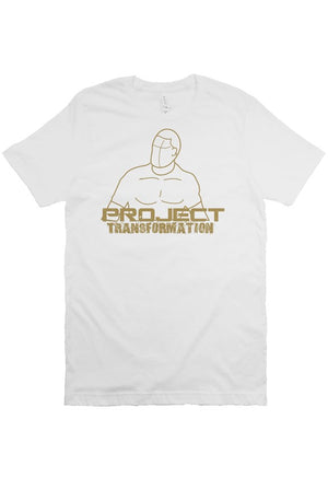 PT Work Out white w/ gold design
