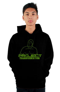 PT Work Out Hoodies green design / back design