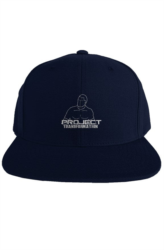 PT Work Out Premium Snapback Navy/ white design