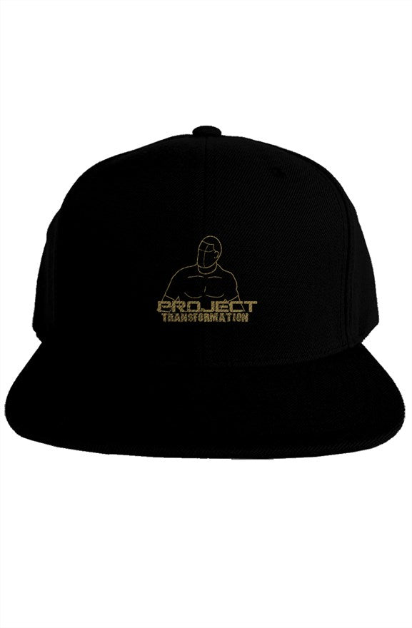 PT Work Out Premium Snapback Dark Gray/ gold design