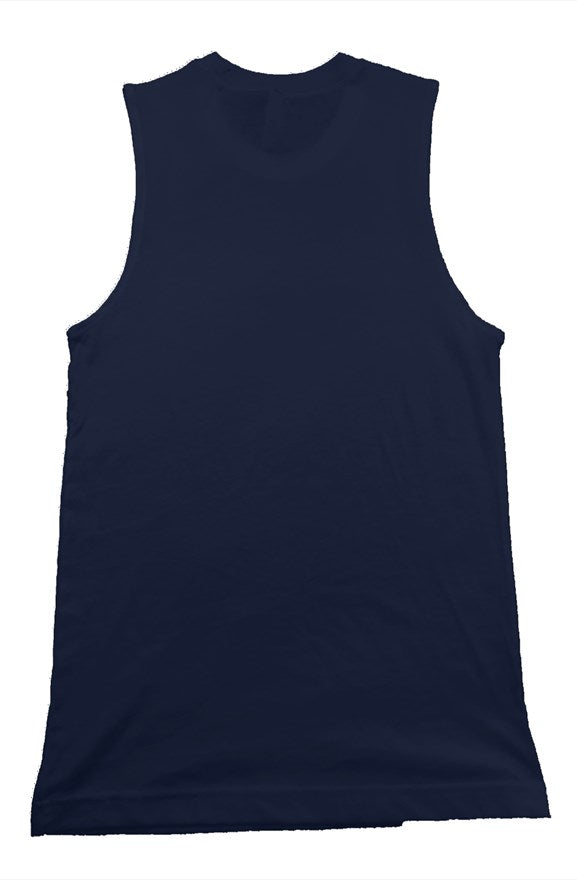 PT Work Out Muscle Tank Navy/white design