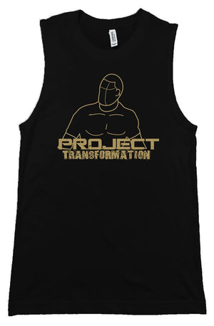 PT Work Out Muscle Shirt Black/ gold design
