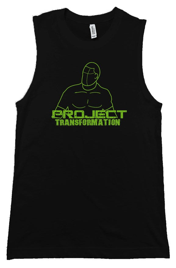 PT Work Out Muscle Shirt Black/ green design