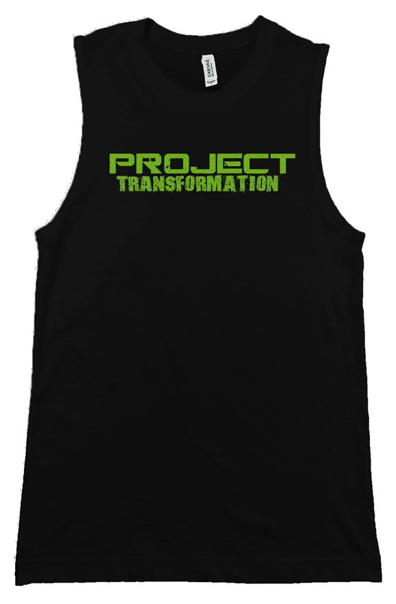 PT Work Out Her Way Muscle Shirt Black/ green design